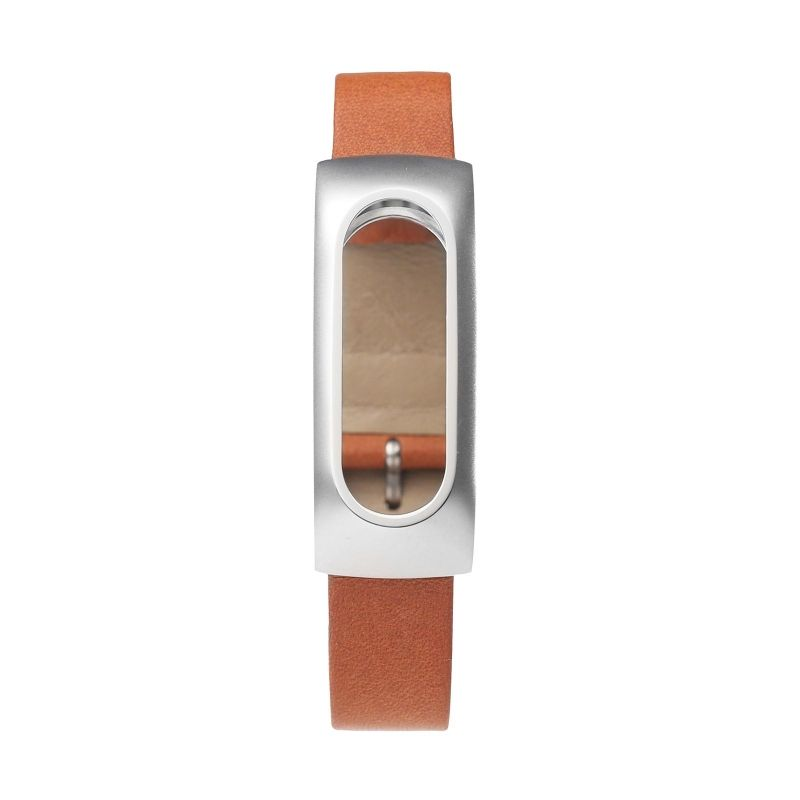 Ремешок для браслета XIAOMI Mi Band Leather strap Metal holder (Brown)